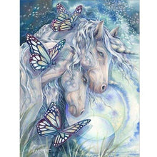 Load image into Gallery viewer, 5D DIY Diamond Painting Kits Cartoon Loving Romantic Horses Butterfly - 3