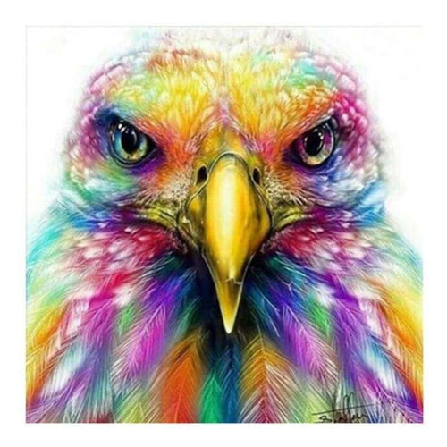5D DIY Diamond Painting Kits Pretty Colorful Eagle