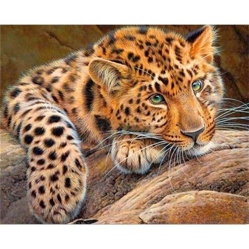 5D DIY Diamond Painting Kits Elegant Cute Leopard - 2