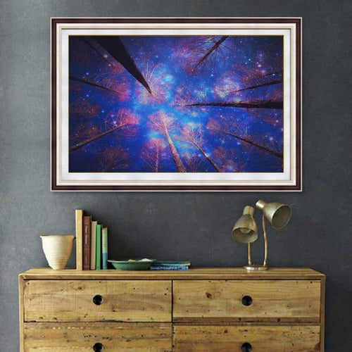 5D DIY Diamond Painting Kits Quiet Blue Starry Sky Night - 3