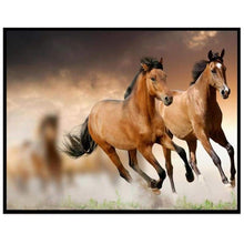 Load image into Gallery viewer, 5D DIY Diamond Painting Kits Running Horses - 3