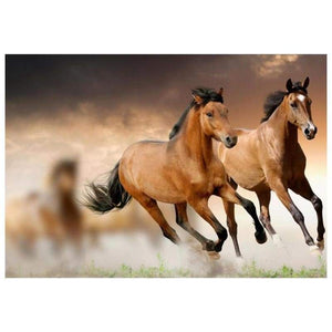 5D DIY Diamond Painting Kits Running Horses - 3