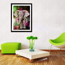 Load image into Gallery viewer, Full Drill - 5D DIY Diamond Painting Kits Colorful Elephant - NEEDLEWORK KITS