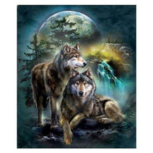 Load image into Gallery viewer, 5D DIY Diamond Painting Kits Cartoon Moon Cool Wolf - 3
