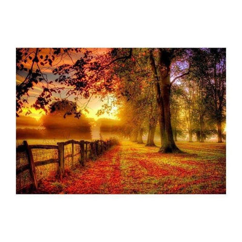 5D DIY Diamond Painting Kits Warm Charming Forest Dusk - 4