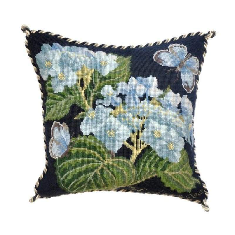 Hydrangea (Two Colour Options) - Black - Tapestry and Needlepoint