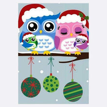 Load image into Gallery viewer, 5D DIY Diamond Painting Kits Cartoon Styles Lovely Owls - 3