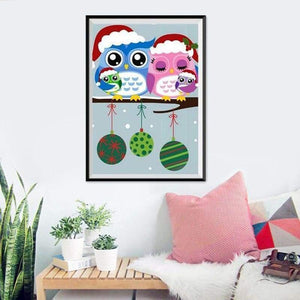 5D DIY Diamond Painting Kits Cartoon Styles Lovely Owls - 3