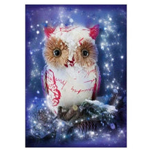 Load image into Gallery viewer, 5D DIY Diamond Painting Kits Cartoon Lovely White Owl - 4