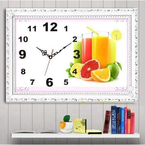 5D DIY Diamond Painting Kits Fruit Clock - 4