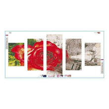 Load image into Gallery viewer, 5D DIY Diamond Painting Kits Multi Panel Rose - 55