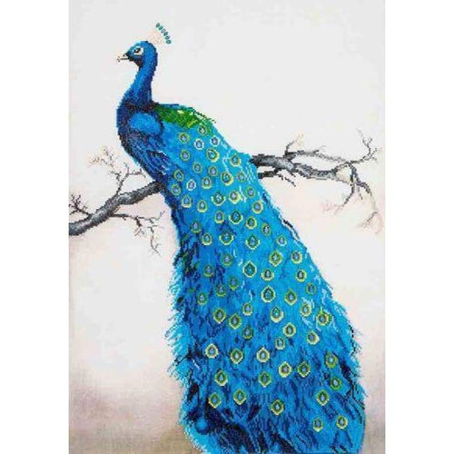 Full Drill - 5D DIY Diamond Painting Kits Cartoon Blue Peacock - NEEDLEWORK KITS
