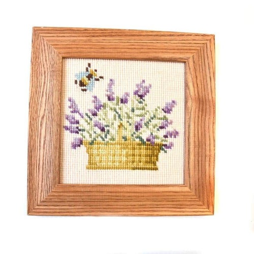 Lavender Basket Mini Kit Needlepoint Kit Elizabeth Bradley Design