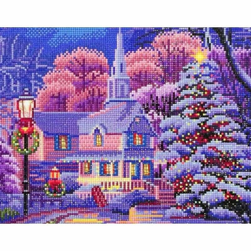 LED Winter House - NEEDLEWORK KITS