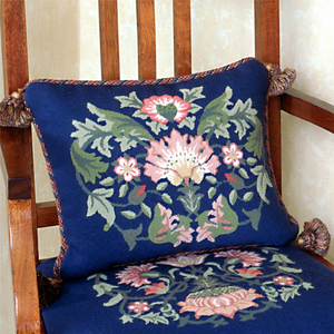 Lodden Collection - Lodden 2 (Blue Background) - Tapestry and Needlepoint
