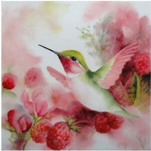 Full Drill - 5D DIY Diamond Painting Kits Watercolor Love Bird Flowers - NEEDLEWORK KITS