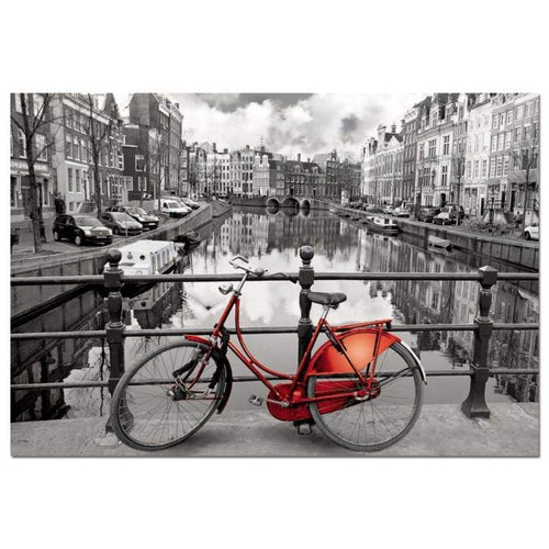 5D DIY Diamond Painting Kits Artistic Red Bicycle City - 4
