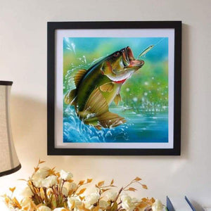 5D DIY Diamond Painting Kits Cartoon The Baiting Fish