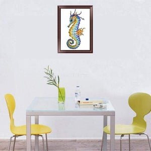 5D DIY Diamond Painting Kits Cartoon Seahorse - 3