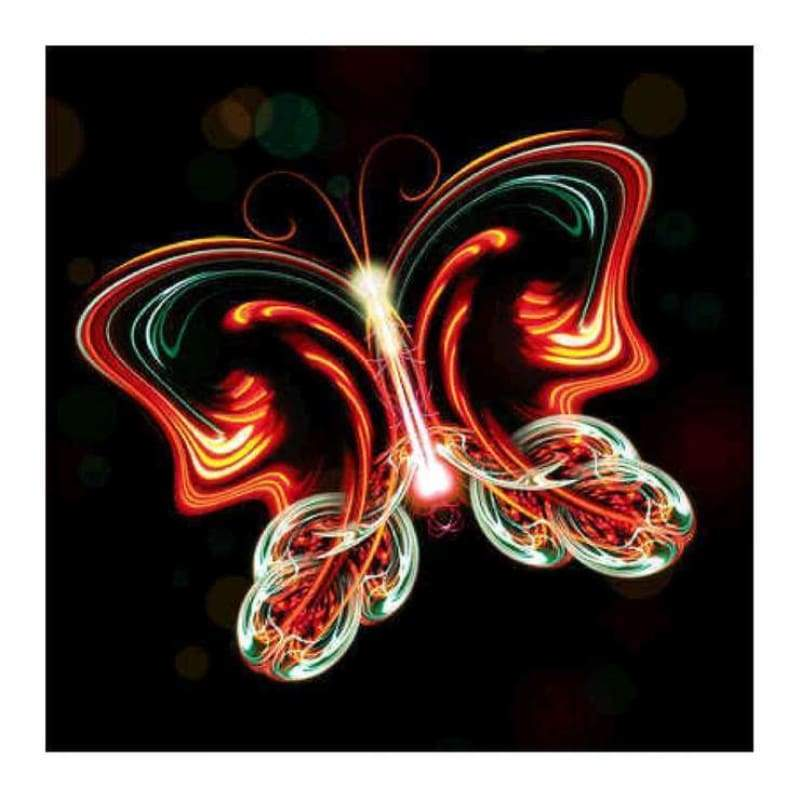 Full Drill - 5D DIY Diamond Painting Kits Colorful Fire Butterfly - NEEDLEWORK KITS
