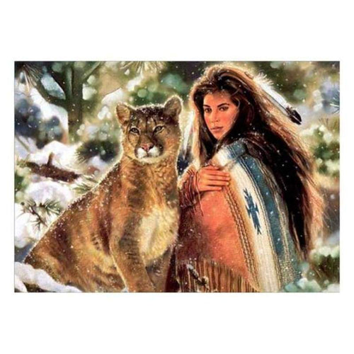 5D DIY Diamond Painting Kits Pretty Beauty And Animal - 3