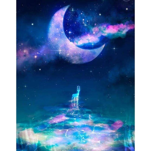 5D DIY Diamond Painting Kits Dream Moon Sky Deer - Z3