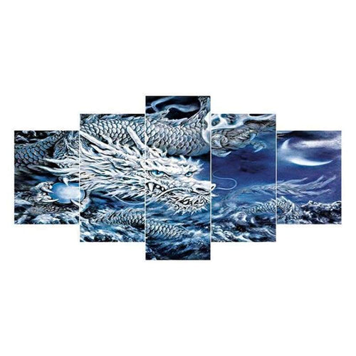 5D DIY Diamond Painting Kits Multi Panel Dream Chinese Dragon - 55