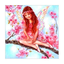 Load image into Gallery viewer, 5D DIY Diamond Painting Kits Cartoon Pink Angel on the Branches
