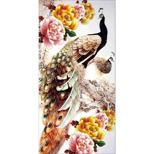Full Drill - 5D DIY Diamond Painting Kits Dream Peacock Peony - NEEDLEWORK KITS