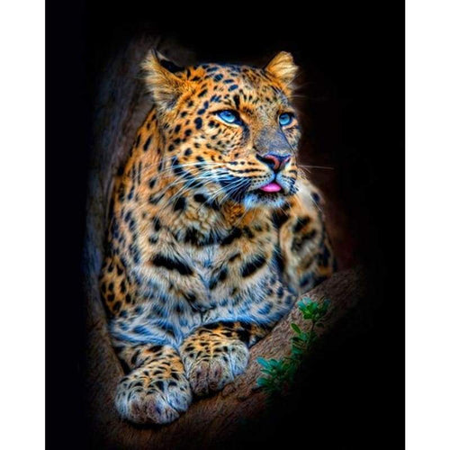 5D DIY Diamond Painting Kits Animal Portrait Leopard - 4