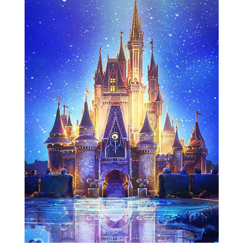 5D Diamond Painting Kits Castle Night Picture - 3