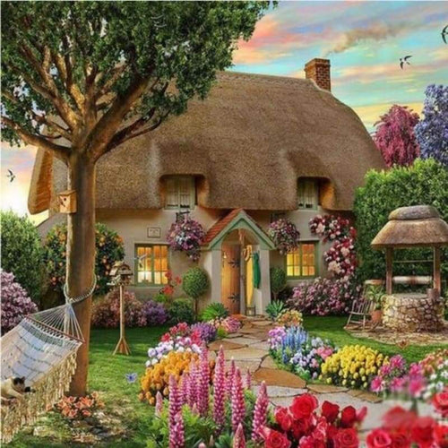 Full Drill - 5D Diamond Painting Kits Cottage Garden - NEEDLEWORK KITS