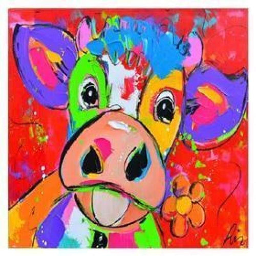 5D Diamond Painting Kits Colored Drawing Cow