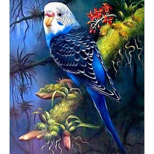 Full Drill - 5D Diamond Painting Kits Cute Bird Parrot on the Blanch - NEEDLEWORK KITS