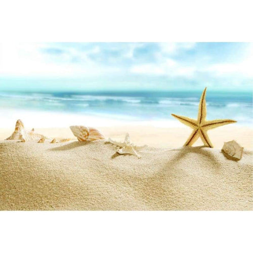5D Diamond Painting Kits Beautiful Shell Starfish on the Beach - 5