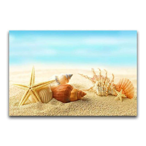 5D Diamond Painting Kits Beautiful Starfish on the Beach - 5
