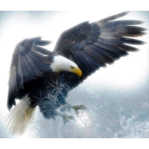 5D DIY Diamond Painting Kits Winter Flying Eagle