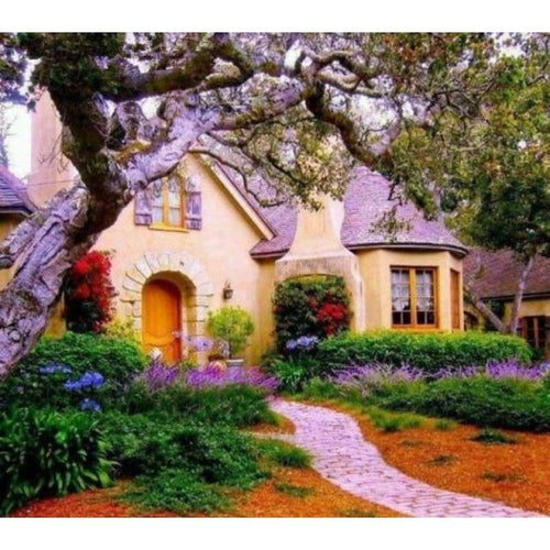 5D DIY Diamond Painting Kits Landscape Cottage Picture