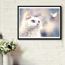 Load image into Gallery viewer, Full Drill - 5D DIY Diamond Painting Kits Cute Pet Cat - NEEDLEWORK KITS