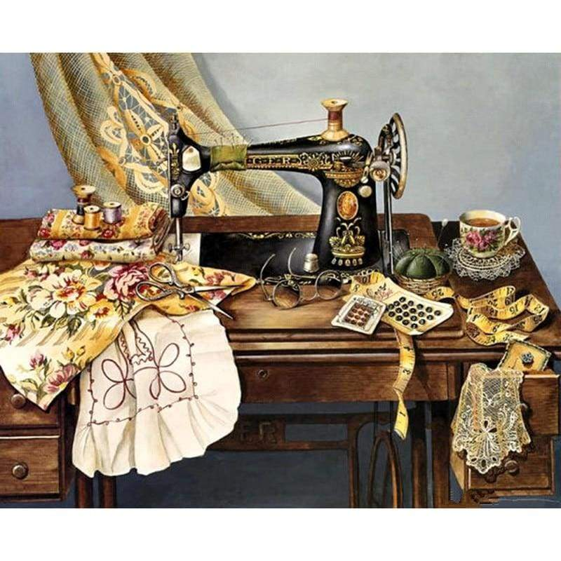 Full Drill - 5D DIY Diamond Painting Kits Sewing Machine - NEEDLEWORK KITS