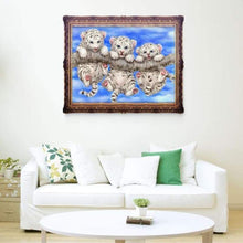 Load image into Gallery viewer, Full Drill - 5D DIY Diamond Painting Kits Cute Tigers on the Branch - NEEDLEWORK KITS