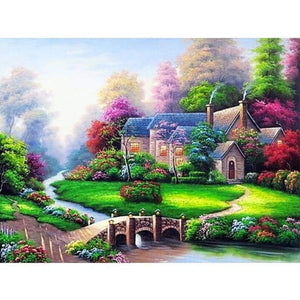 Full Drill - 5D DIY Diamond Painting Kits Spring Village Decor House - NEEDLEWORK KITS