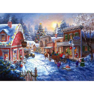 Full Drill - 5D DIY Diamond Painting Kits Winter Christmas Town - NEEDLEWORK KITS