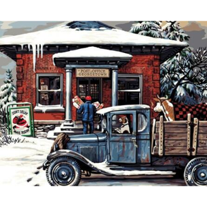 Full Drill - 5D DIY Diamond Painting Kits Winter Christmas Scenery - NEEDLEWORK KITS
