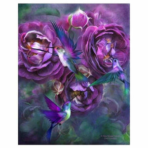 Full Drill - 5D DIY Diamond Painting Kits Beautiful Flowers Birds