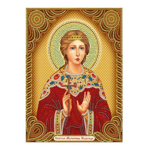 5D DIY Diamond Painting Kits Heavenly Portrait Of Christianity Mother Mary - 3