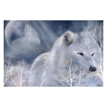 Load image into Gallery viewer, Full Drill - 5D DIY Diamond Painting Kits White Wolf - NEEDLEWORK KITS