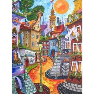 5D DIY Diamond Painting Kits Cartoon Town Stress - 4