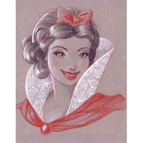 5D DIY Diamond Painting Kits Cartoon Smile Elegant Princess - Z3