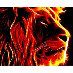 Full Drill - 5D DIY Diamond Painting Kits Different Fire Lion - NEEDLEWORK KITS
